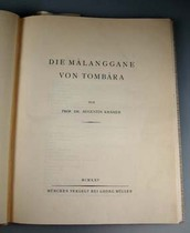 Die M&aacute;langgane von Tomb&aacute;ra, Literature: Oceania, Kr&auml;mer, Augustin