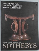 African Art from the Egon Guenther Family Collection, Literature: Auction catalogues, Sotheby&#039;s New York