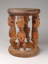 Prestige stool, Cameroon Grassfields
