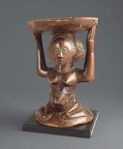 Caryatid stool, D. R. Congo, Luba