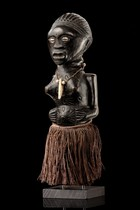 Standing female power figure, D. R. Congo, Songe
