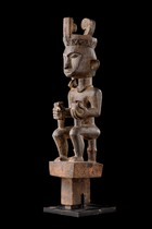 "Sitting male ancestor figure ""adu zatua"", Indonesia - Nias"