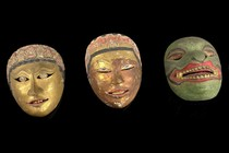 Three theater masks, Indonesia - Java