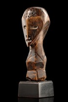 Anthropomorphic janus-faced figure, D. R. Congo, Lega