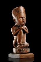 "Sitting figure ""niongi"", D. R. Congo, Yombe"