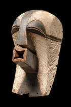 "Anthropomorphic face mask ""kifwebe"", D. R. Congo, Songe"