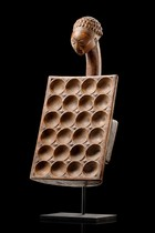 "Game board for the ""mancala"" game, D. R. Congo, Luba"