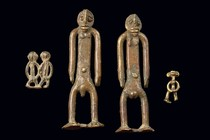 Four figures, Burkina Faso, Lobi
