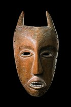 Big horned mask &quot;kayamba&quot;, D. R. Congo, Lega