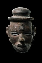 "Mask with hinged jaw ""elu"", Nigeria, Ogoni"