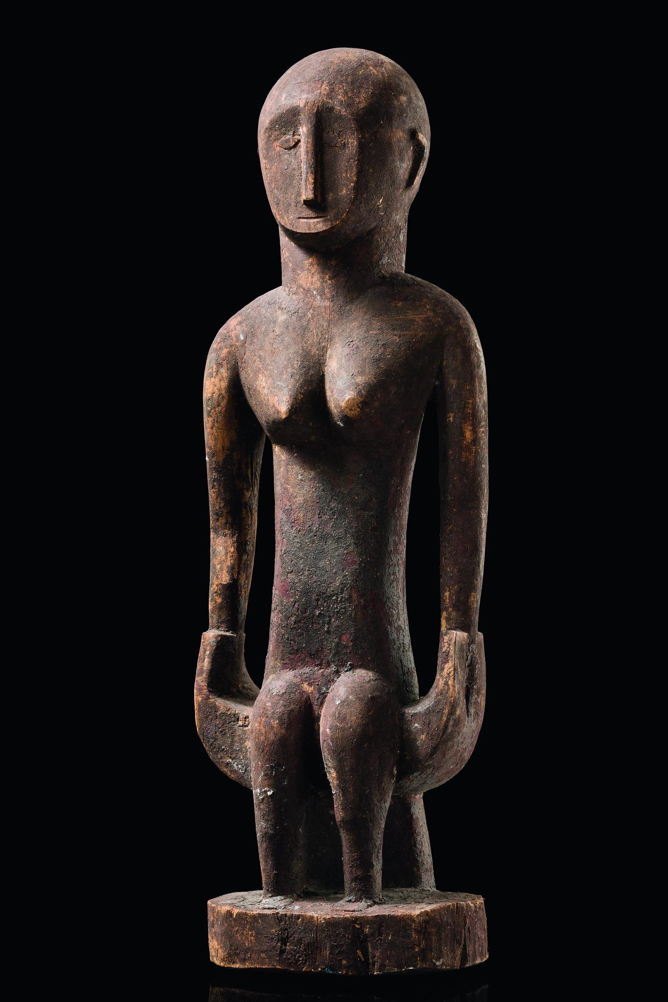"""Sitzende weibliche Figur """"iran"""""""