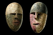 Pair of masks &quot;nsembu&quot;, D. R. Congo, Kumu