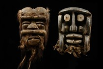 Two masks, Ivory Coast, Bete