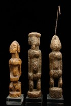 Drei kleine Ahnenfiguren, Mali, Dogon