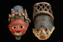 Zwei Masken &quot;gelede&quot;, Nigeria, Yoruba