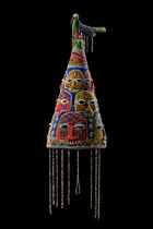 "Regal beaded crown ""ade"", Nigeria, Yoruba"