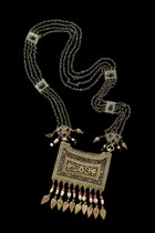 "Necklace with amulet case ""bazband"", Uzbekistan"