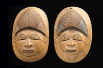 Two miniature masks, Burkina Faso, Lobi