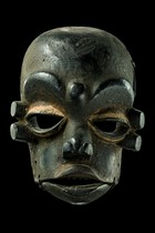"Mask with hinged jaw ""idiok ekpo"", Nigeria, Ibibio"