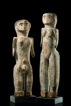 Pair of figures, D. R. Congo, Bwaka
