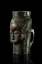 Anthropomorphic cup &quot;mbwoong ntey&quot;, D. R. Congo, Kuba