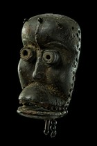 "Mask with movable jaw ""bugle"", Ivory Coast, Dan"