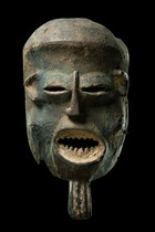 "Mask ""nkoh"" of the ""kungan"" society, Cameroon Grassfields, Bamileke"