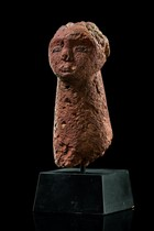 Head sculpture, Sudan, Bongo