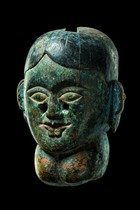 Female dance mask with goiter, Nepal, Terai/Rajbansi
