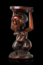 Caryatid stool, D. R. Congo, Songe