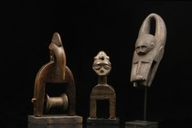 Three heddle pulleys, Ivory Coast, Baule
