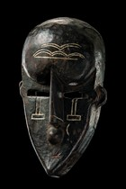Anthropomorphic face mask, D. R. Congo, Lualwa