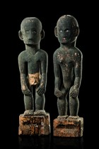 "Standing pair of rice deities ""bulul"", Philippines - Ifugao"