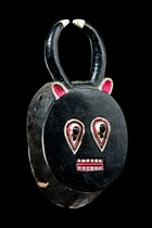 Male face mask of the &quot;goli&quot; group &quot;kplekple yaswa&quot;, Ivory Coast, Baule