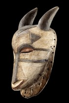 "Mask with horns ""kifwebe"", D. R. Congo, Luba"