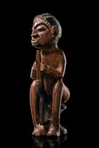 Seated figure, D. R. Congo, Holo