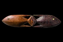 Double sculpture of a fish, Papua-Neuguinea - Bismarck Archipel - New Irland - Tench Island