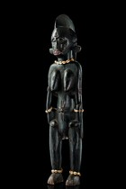 "Mother and child figure ""katyeleo"", Ivory Coast, Senufo"