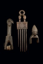 Two heddle pulleys and a comb, Ivory Coast