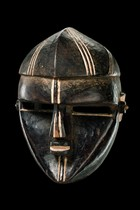 "Anthropomorphic face mask ""shifola"", D. R. Congo, Lualwa"