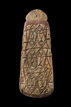 War shield, Papua New Guinea, Asmat, Momogo Village, Upper Pomatsj River