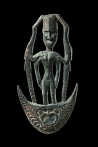 Figural suspension hook and breast ornament, Papua New Guinea, Iatmul