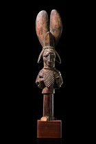 "Janus-headed dance staff ""oshe shango"", Nigeria, Yoruba, Area of Ijebu"