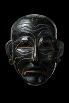 "Anthropomorphic face mask ""clown"", India, Arunachal Pradesh"