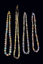 Four necklaces, West Africa