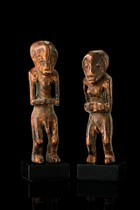 Small couple of figures, D. R. Congo, Lega