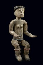 Seated female figure, Ghana, Ashanti