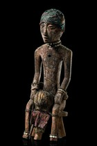 "Seated figure ""bochio"", Benin, Fon"