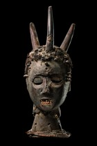 Anthripomorphic dance crest, Nigeria, Boki