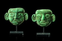 Two maskets, Peru, Moche